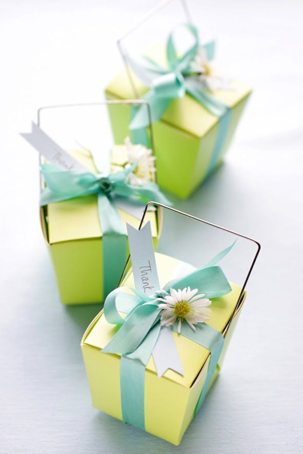 Beautifully packaged party favors.
