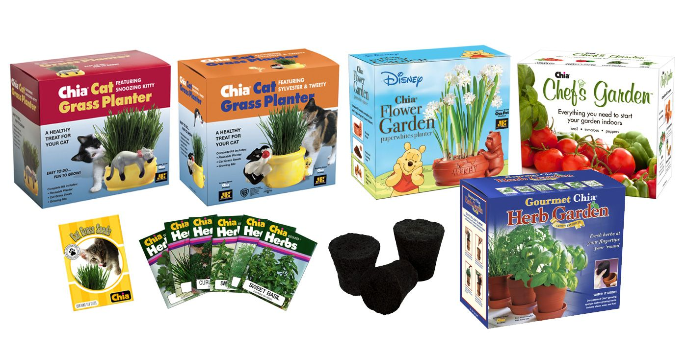Chia Pet Garden Characters Chia Pet Pets Cat Grass Planter