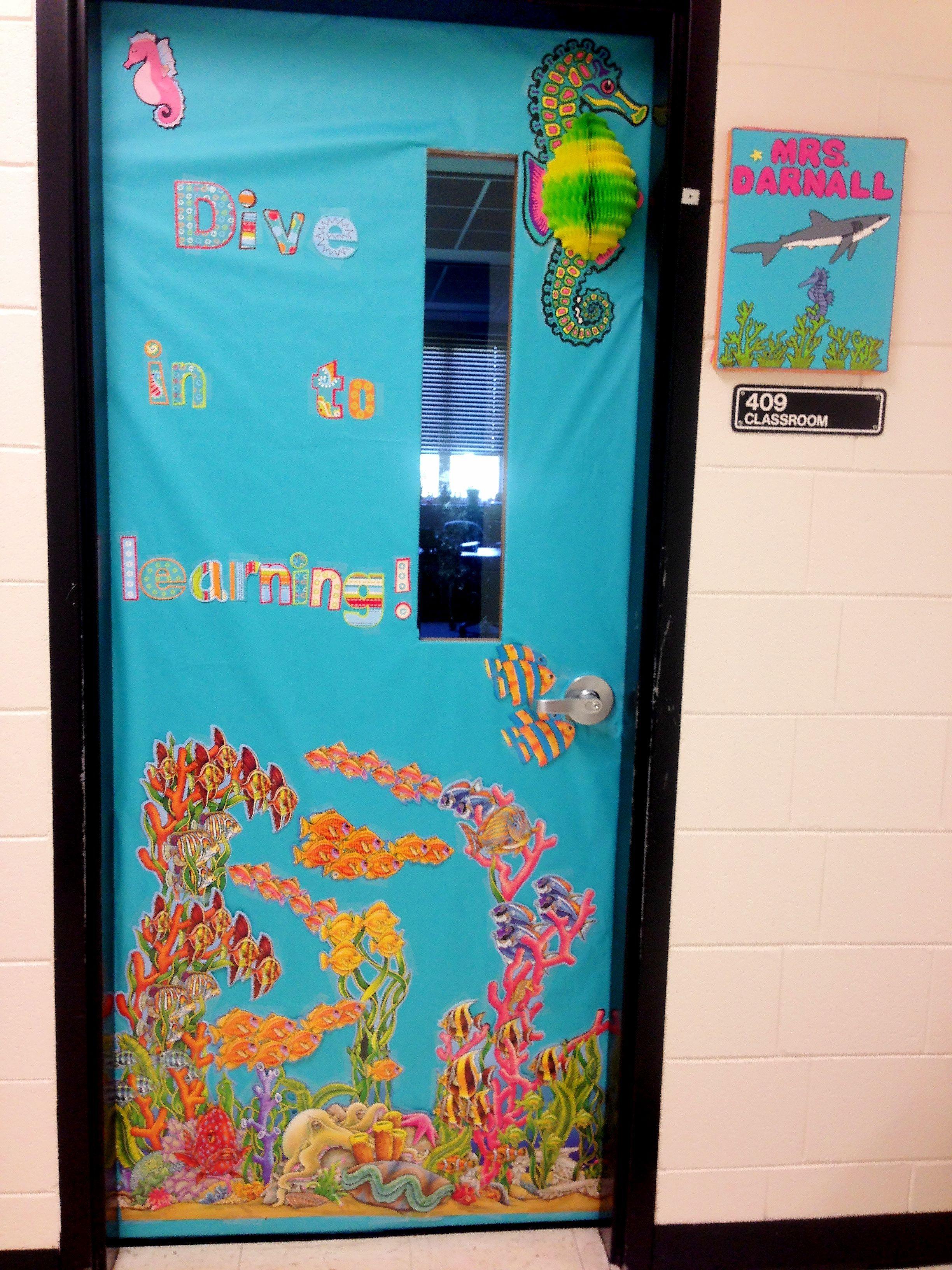 Classroom Aquarium Ideas : Classroom door for the beginning of year fish ocean