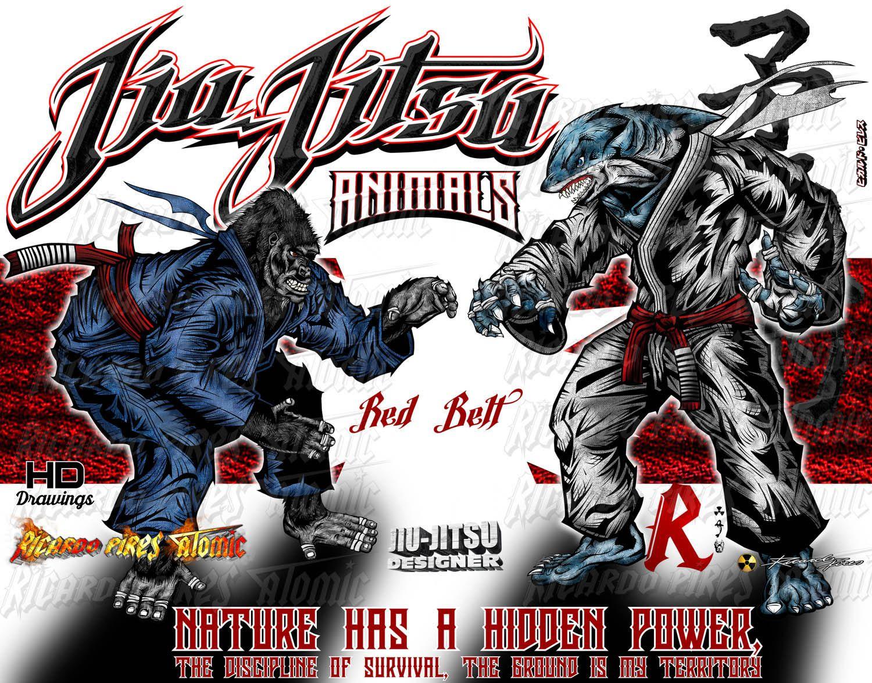 Jiu-Jitsu Shark x Gorilla - Animals Fighters color Jiu-Jitsu