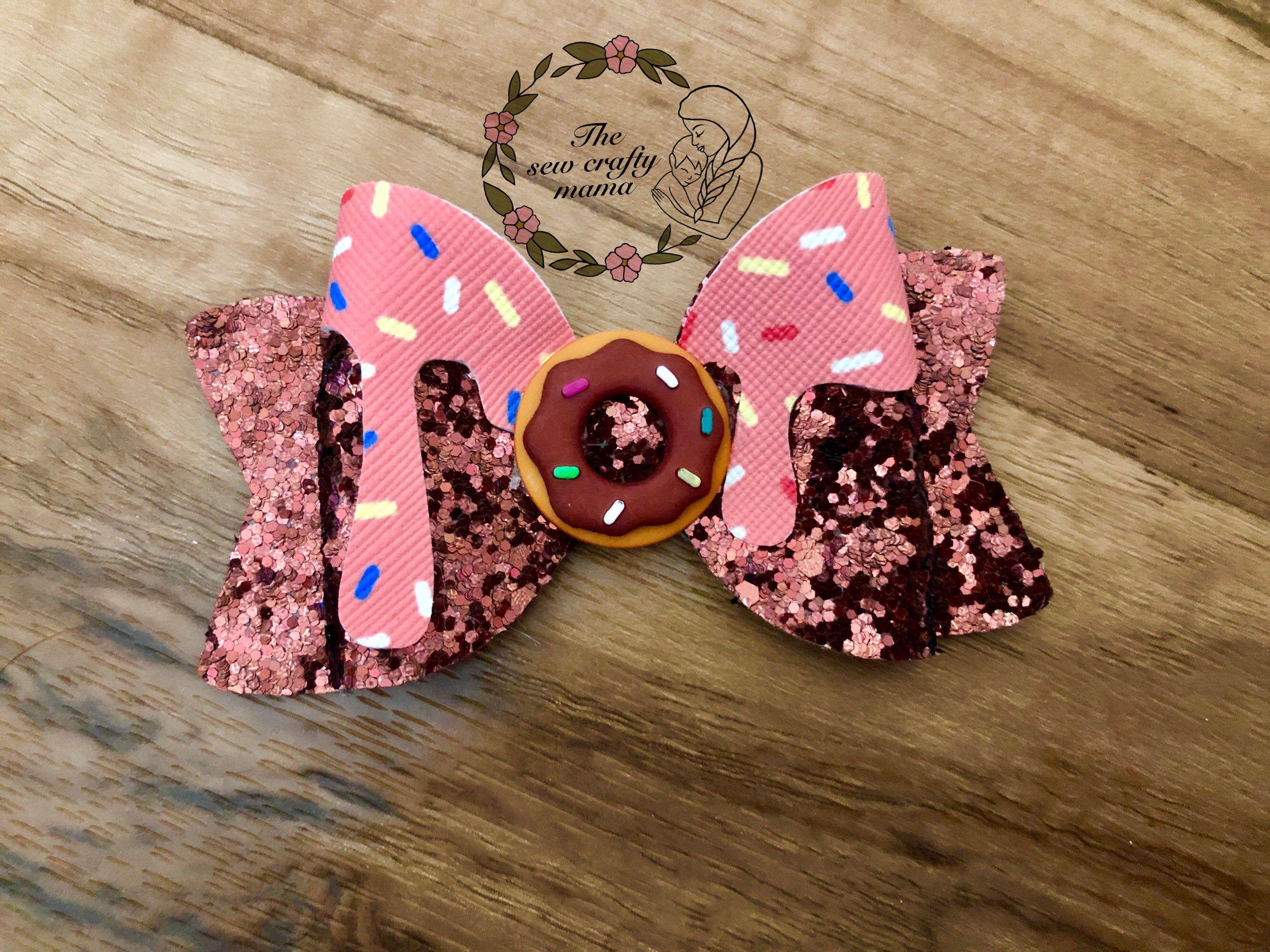 Donut Girls Hair Bow Donut Grow Up Hair Bow Birthday Hair Bow Donut Birthday Party Hair Clip Donut themed Hair Bow