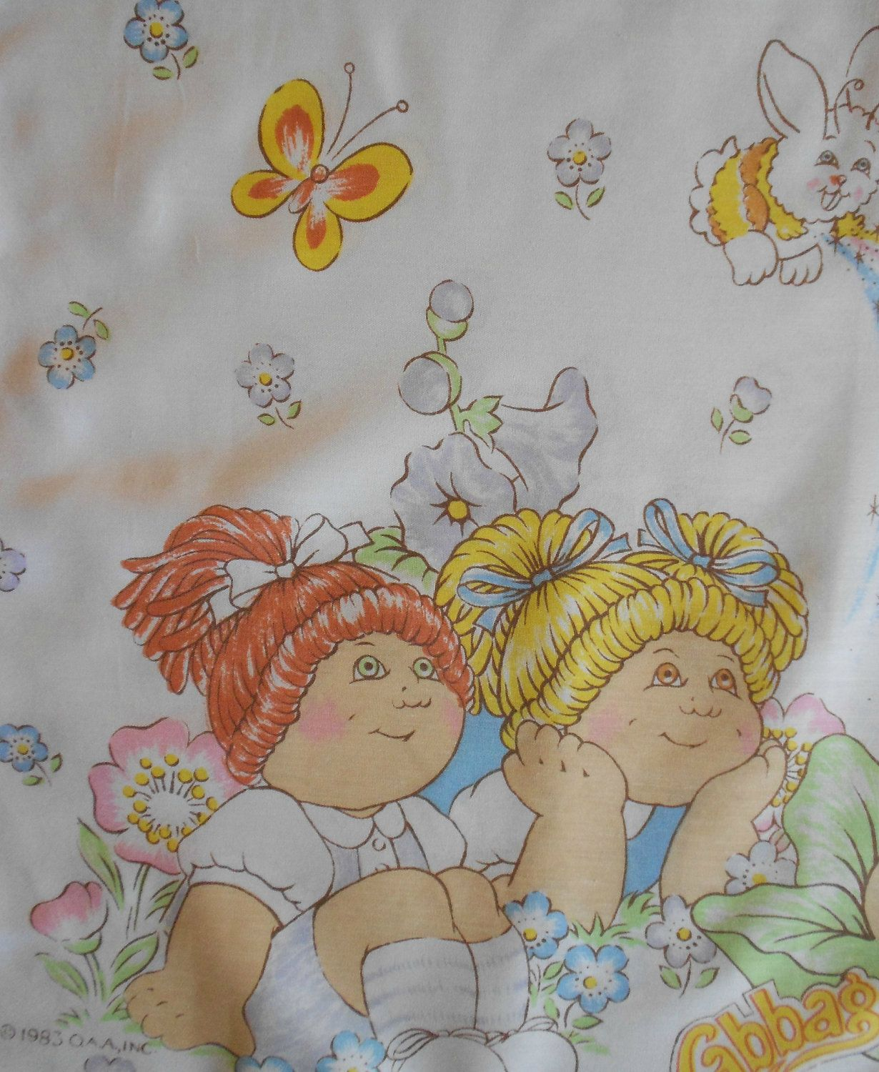 we had these cabbage patch sheets! haha