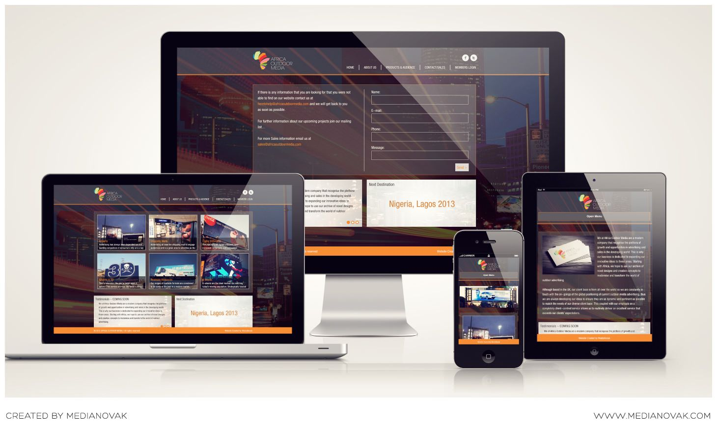 New Responsive Website For Africa Outdoor Media