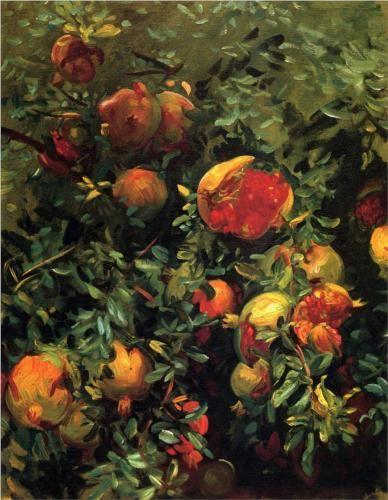 Pomegranates, Majorca  - John Singer Sargent
