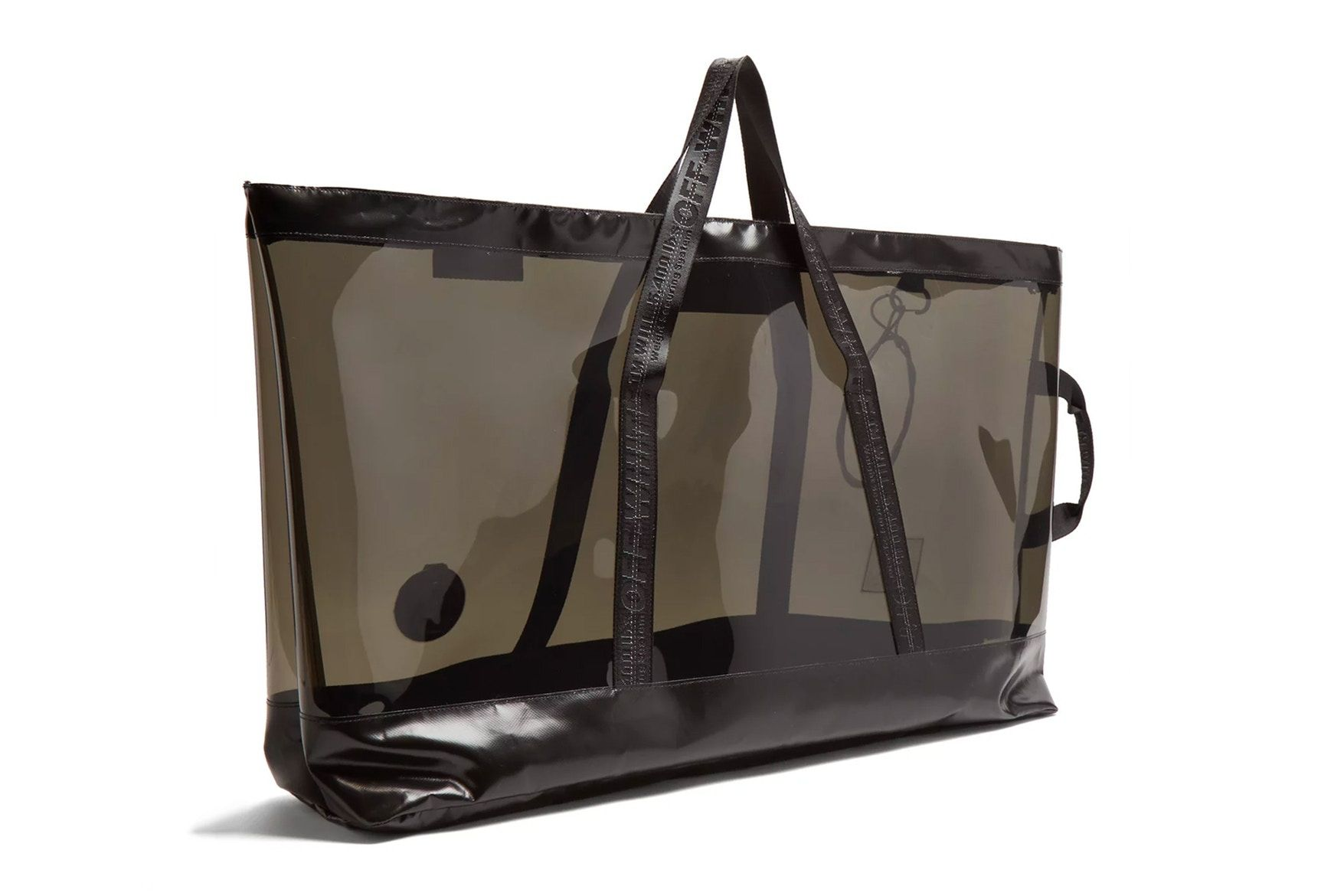 69dfc5856 Off-White™ Black PVC Oversized Tote Bag Translucent See Through Transparent  Plastic Large unisex mens womens where to buy matchesfashion.com