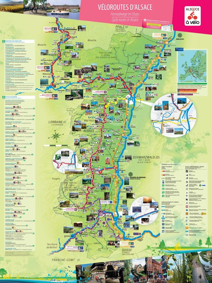 Alsace bike map Maps Pinterest Alsace and France