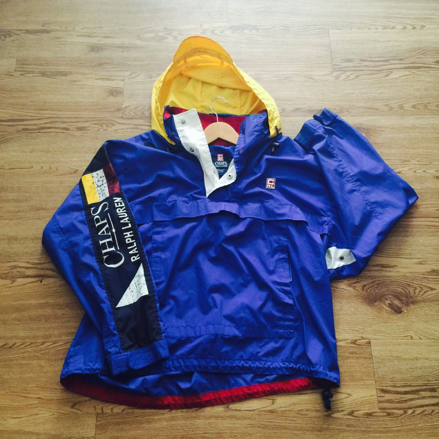 Vintage Chaps x Ralph Lauren Pullover Jacket by VNTGvault on Etsy ... 14cdfcd988180