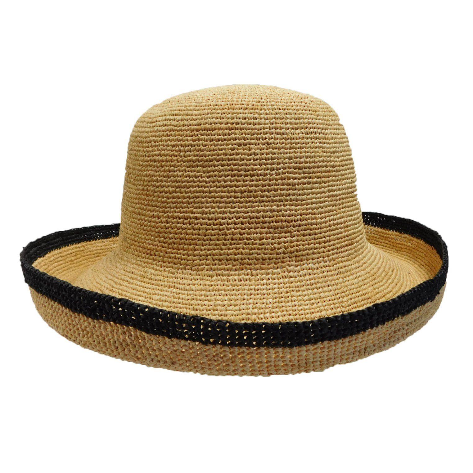 c870e3cdb9e Handmade breton style hat. Up turned brim with black trim. Shapeable, 4