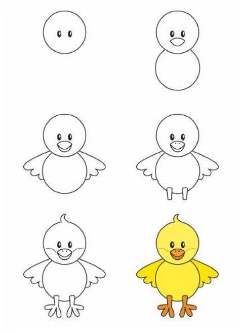 Apprendre à Dessiner Aux Enfants étape Par étape 17 Animaux