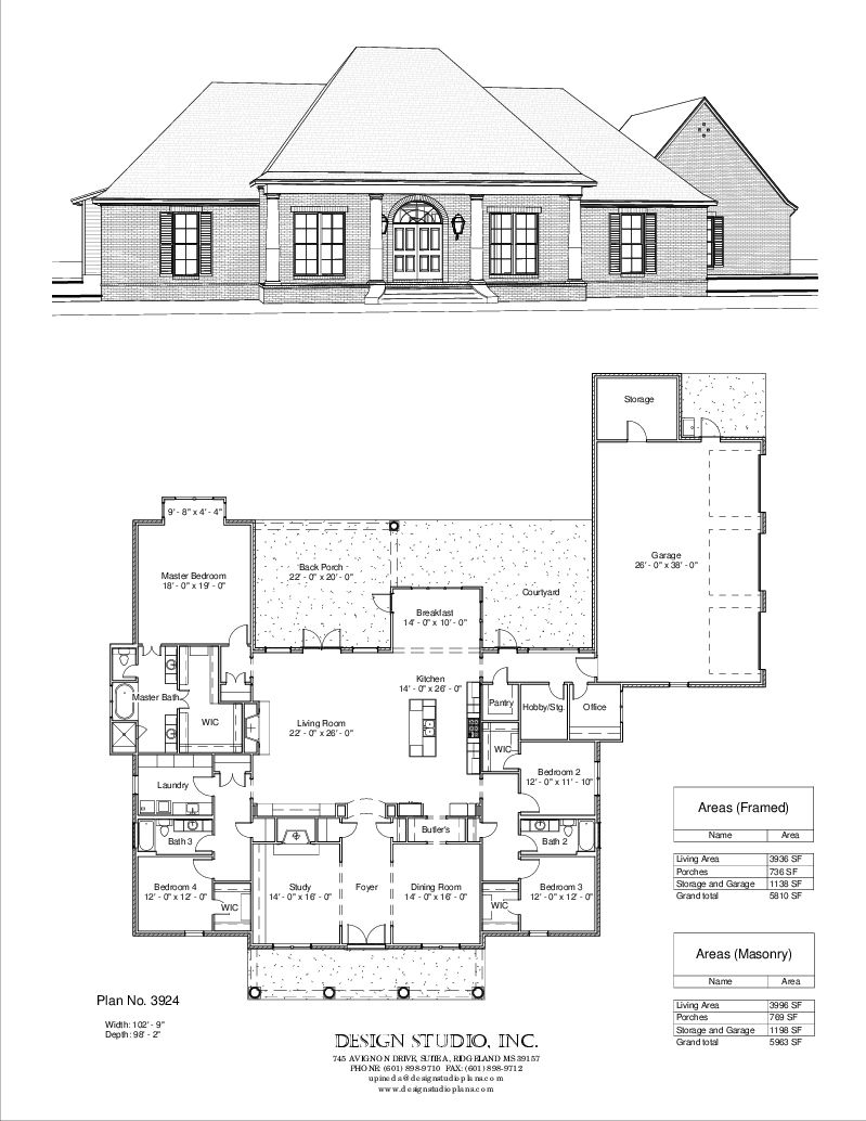 Simple Usable Space Plan Not Good For Entertaining Though Plan 3924 Design Studio House Plans New Home Construction Building A House