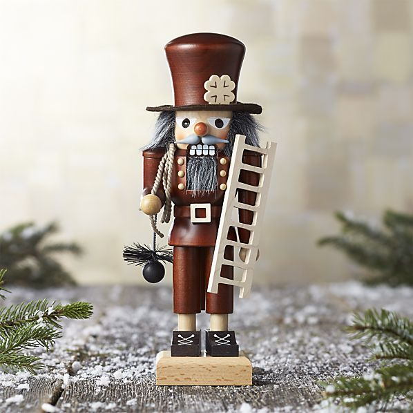 this exceptional nutcracker was handcrafted exclusively for crate and barrel by artisans in the mountainous erzgebirge christmas clearancechimney