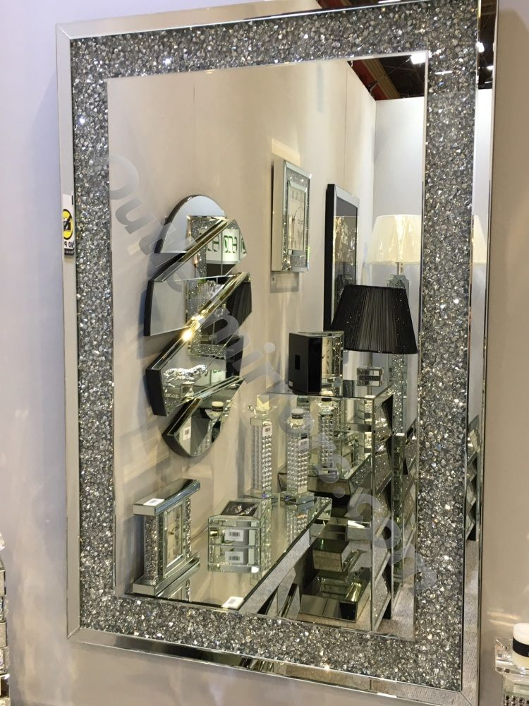 Special Offer New Diamond Crush Sparkle Wall Mirror 120cm