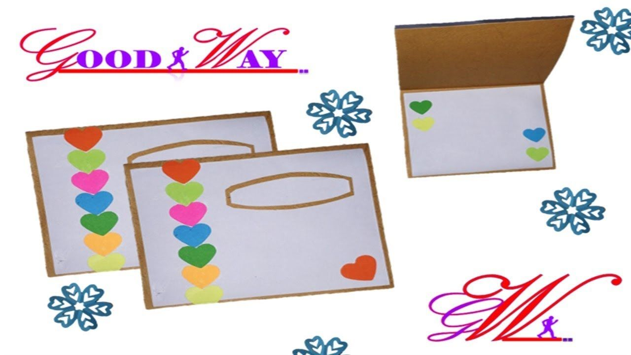 طريقة عمل بطاقة تهنئة أو دعوة أو مطوية 31 Greeting Card Or Invite Hand Art Crafts Diy And Crafts