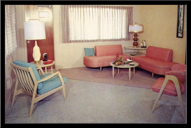 Decade By Decade A Look At The Typical American Household By Decade Retro Living Rooms Retro Living Room Furniture 1950s Living Room