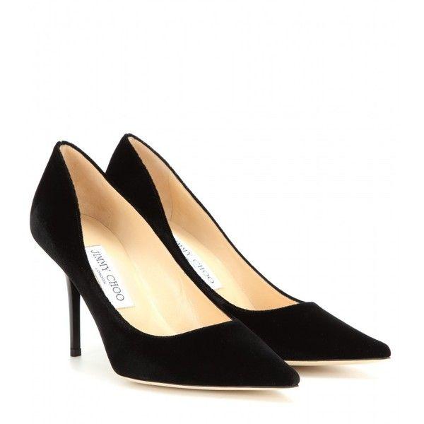 c5e705da562830 Jimmy Choo Agnes Velvet Pumps ( 490) ❤ liked on Polyvore featuring shoes