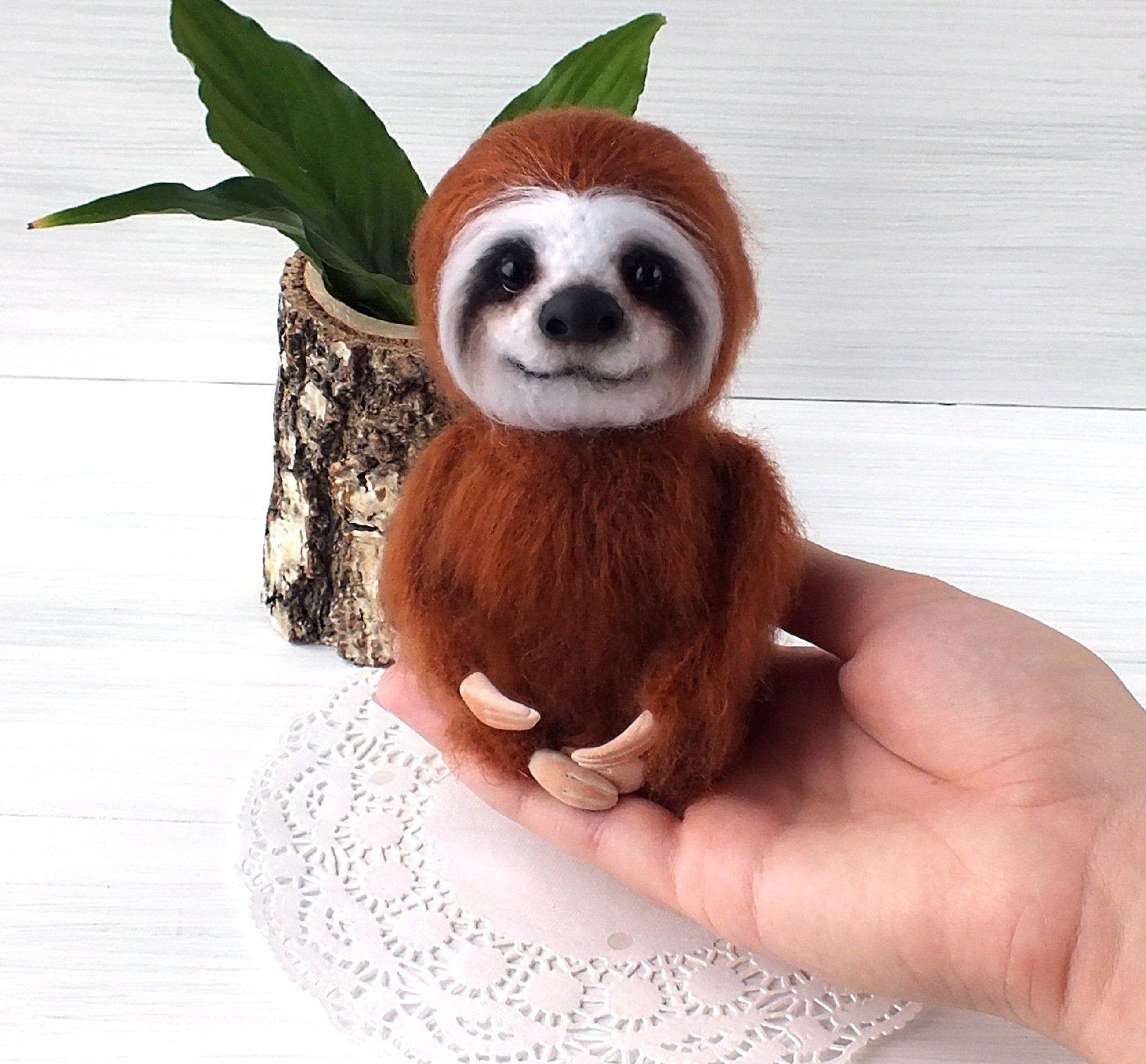 Crochet Amigurumi Sloth Cute Plush Sloth Stuffed Animal Fluffy Sloth Toy Home Decoration Gift For Girl Toy For S In 2020 Sloth Stuffed Animal Cute Plush Crochet Sloth