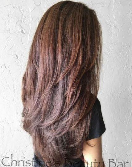 22 Trendige Ideen Frisur Fur Langes Haar Mit Pony Und Lagengesichtsformen Hair Fur Haar Hai Schnitt Lange Haare Haarschnitt Lange Haare Haarschnitt