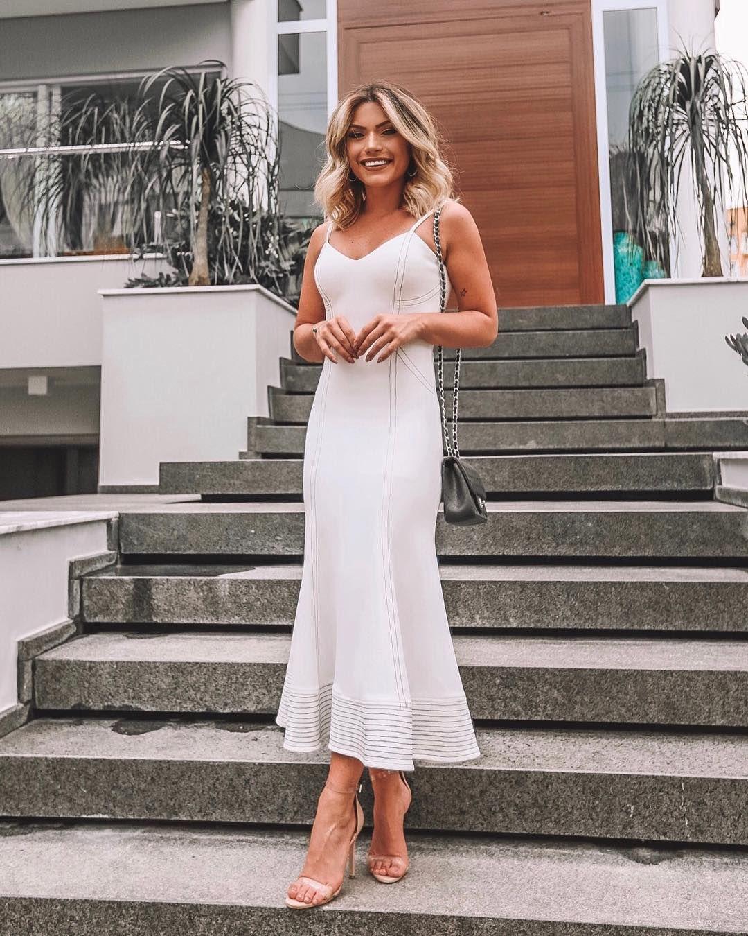 Look Vestido Branco Lu Tranchesi