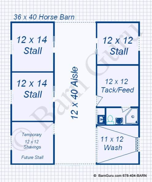 3 stall horse barn monitor style this horse life for Horse stable blueprints