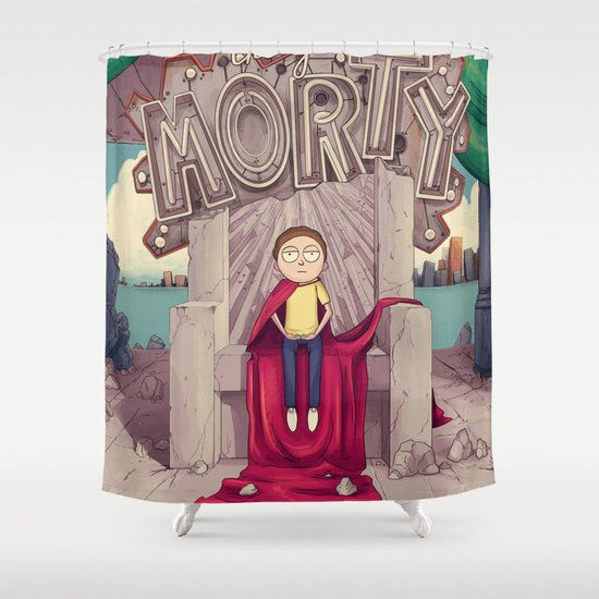 The Good Morty Shower Curtain Morty Rick And Morty Rick