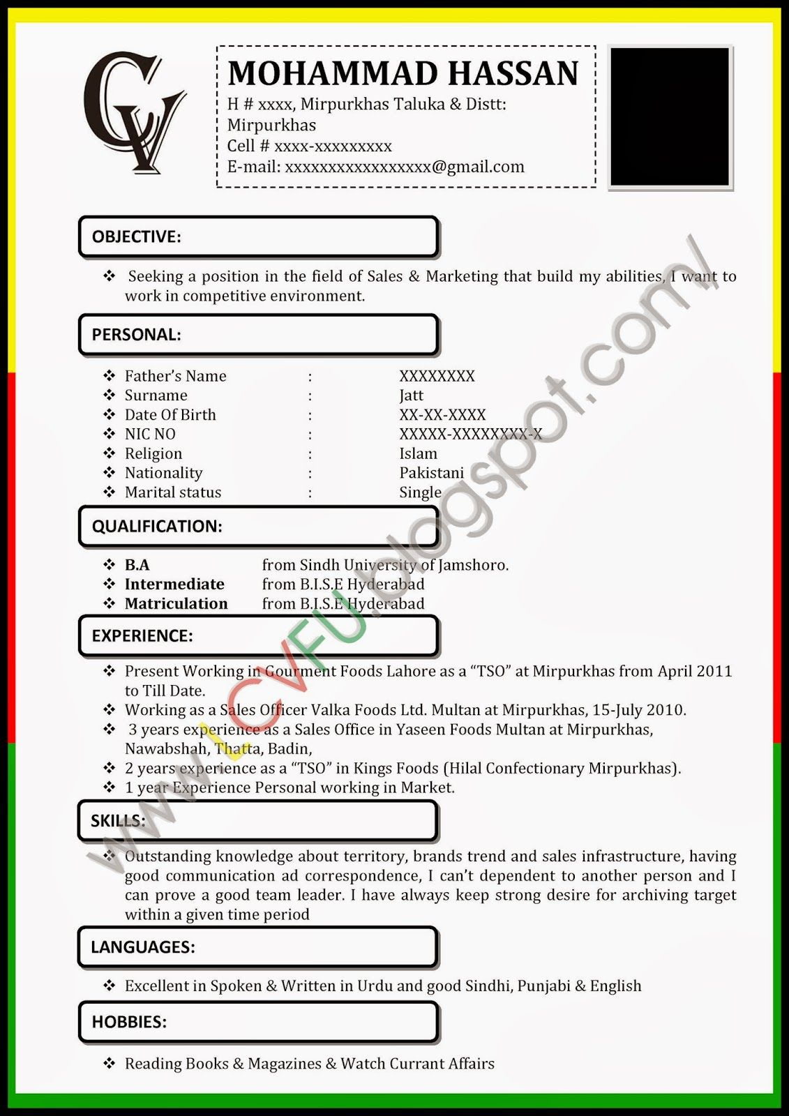 Curriculum Vitae New Zealand Format | resume examples | Pinterest