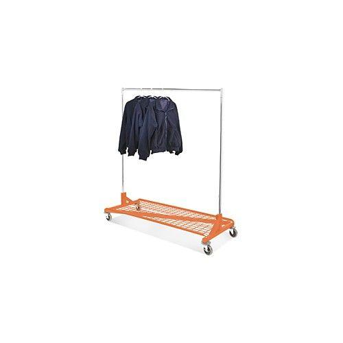Orange Base Shelf For Rolling Garment Rack Garment Racks Shelves