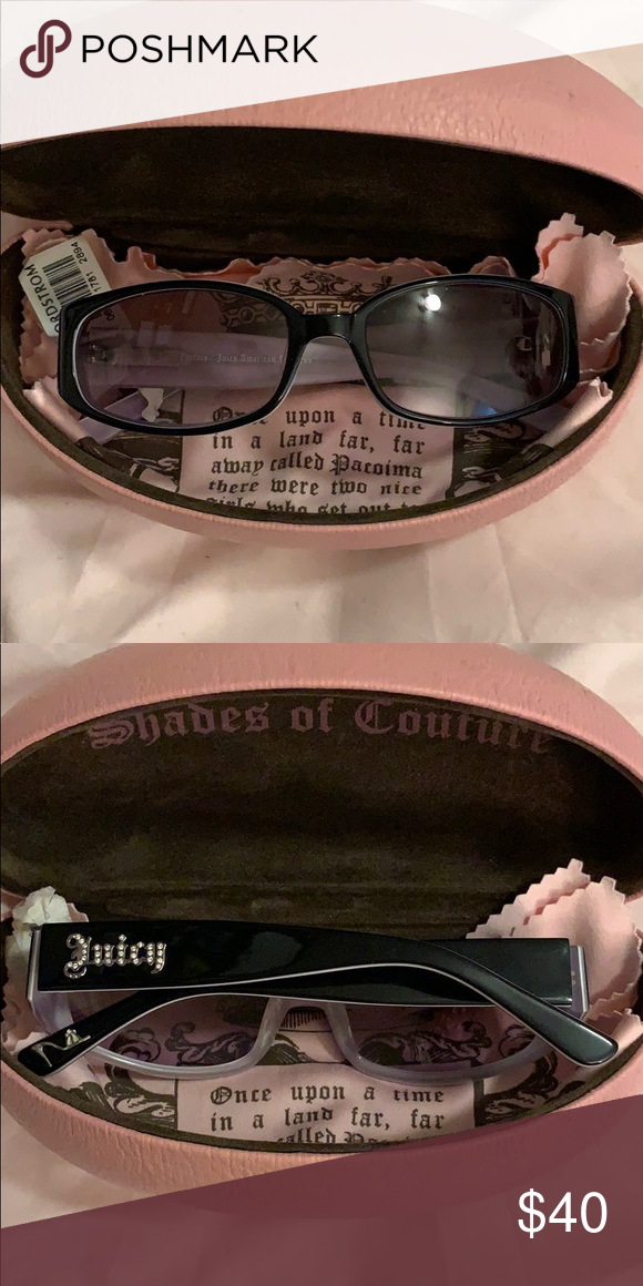 9ce2b0e0d38f Juicy Couture Juicy American Princess Sunglasses Adorable girls sunglasses.  Black frames with purple trim.