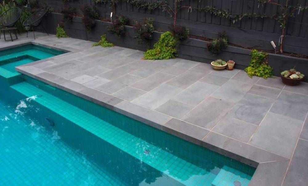 Pavers Around Swimming Pool Pool Coping Outdoor Stone Travertine