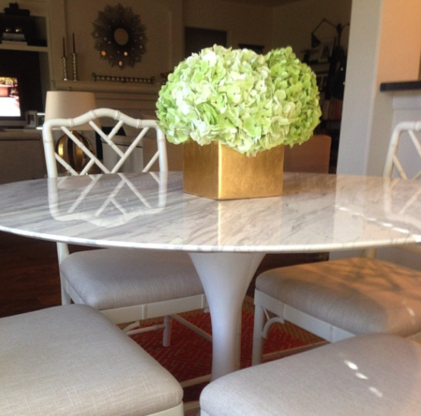 A Few Project Sneak Peeks | Tulip table, Marble top and Marbles