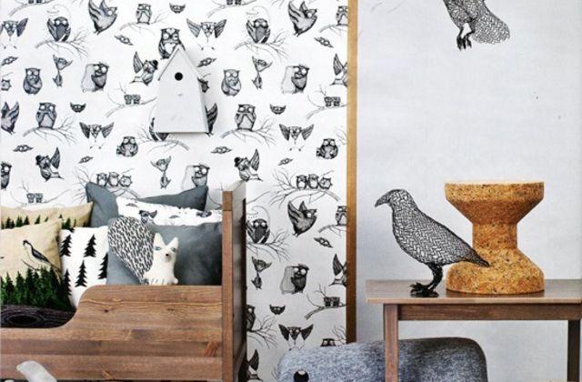Owls Pattern - Fototapeter & Tapeter - Photowall