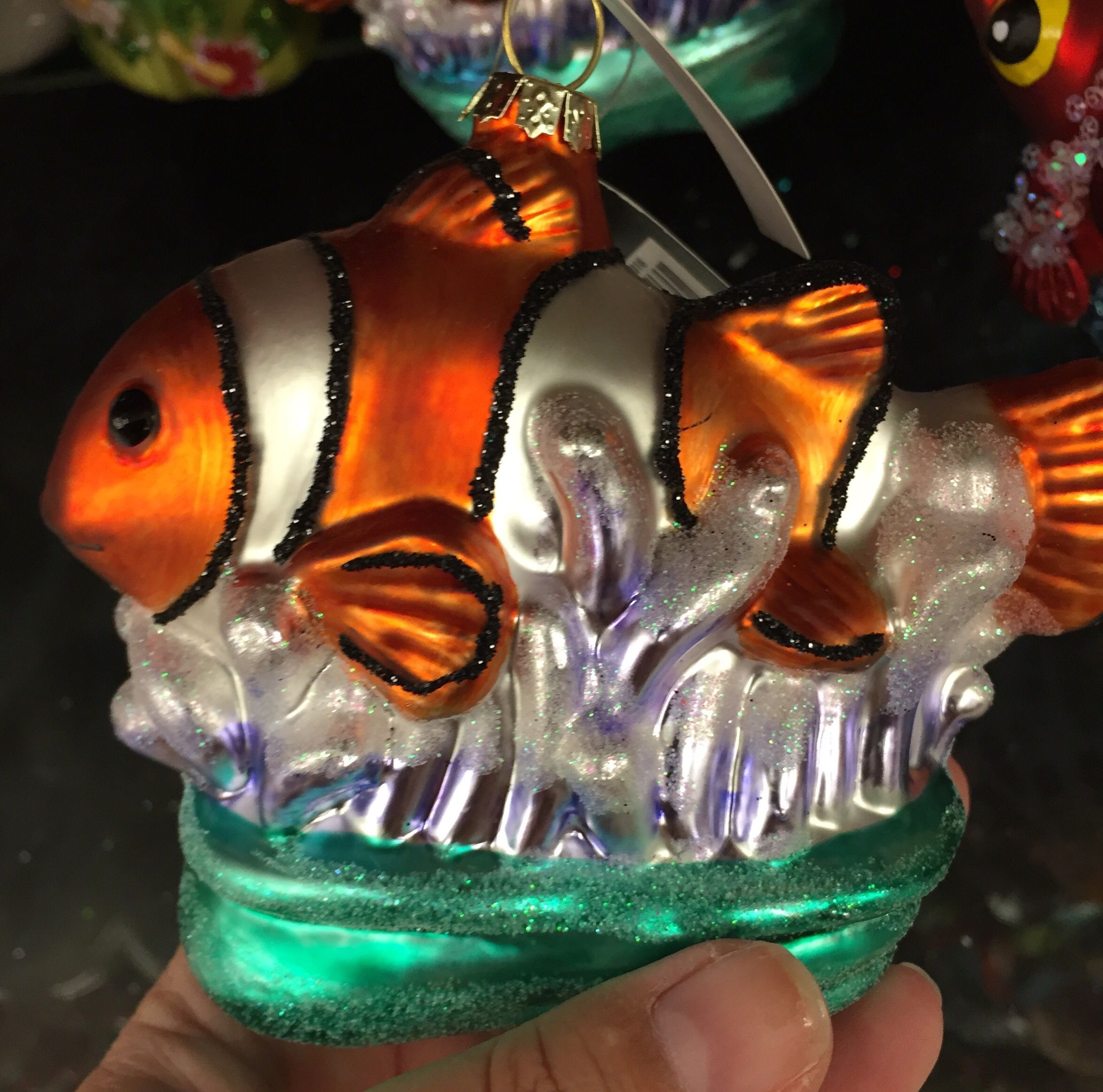 Hobby lobby glass ornaments - Robert Stanley Home Collection Clown Fish Glass Ornament From Hobby Lobby 9 99