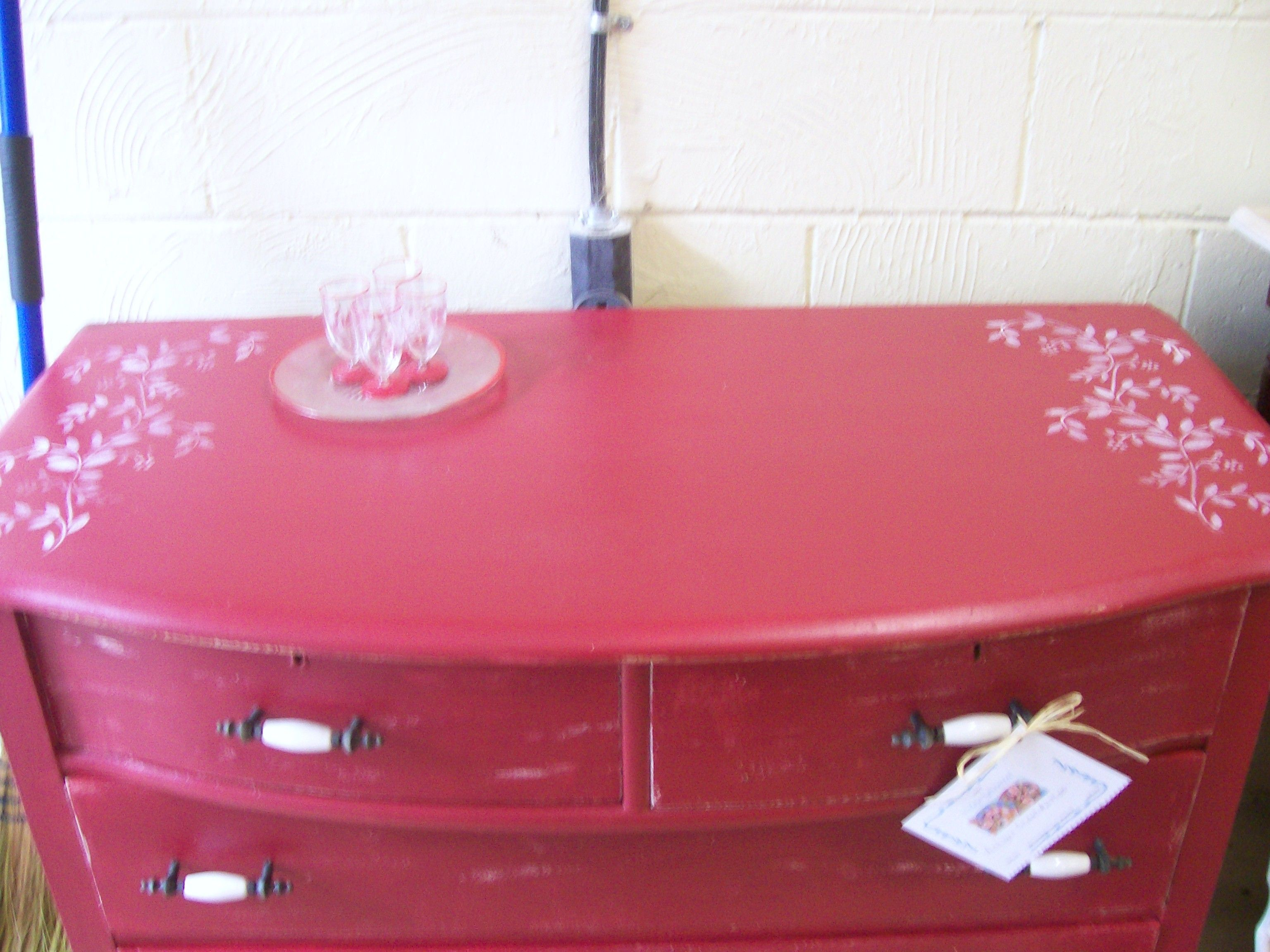 Painted and Stenciled Chest by Vintage Reinvented