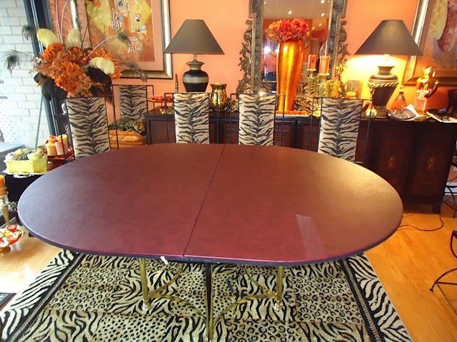 Oval Table Extension Pad Over The Round Glass Table Extending Table Dining Table Round Dining Table