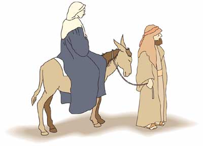 Mary And Joseph Kids Church Christmas Singing Time Cute Animal Clipart