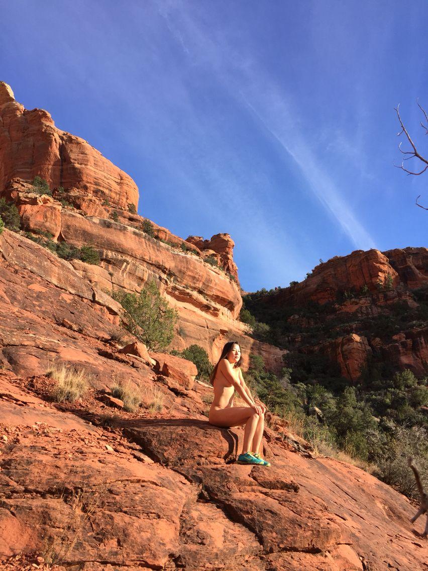 Sedona red rocks naked man pics