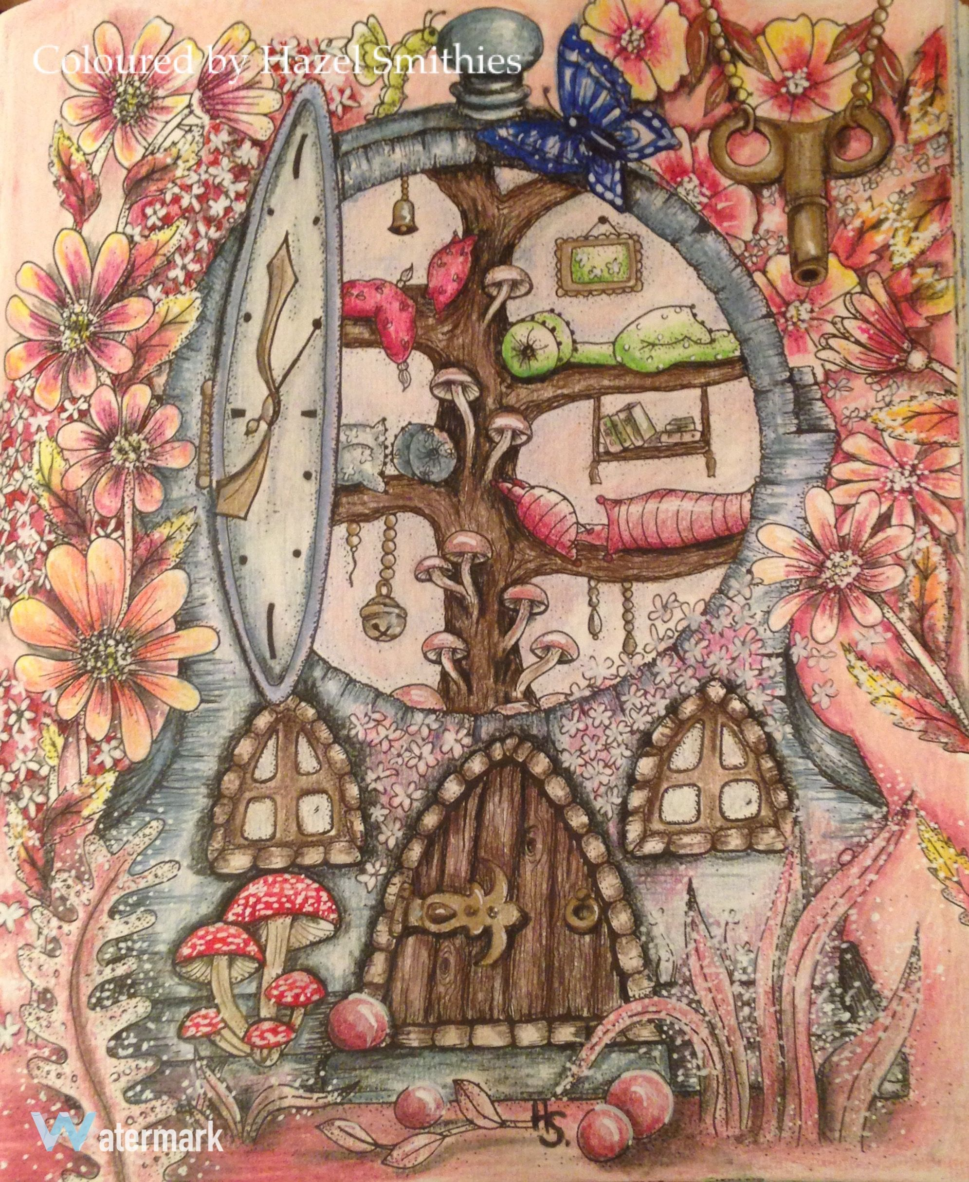 Enchanted forest coloring book youtube - Fairy House From Carovne Lahodnosti Magical Delights By Klara Markova In Prismacolor Premier Pencils Coloring Booksadult