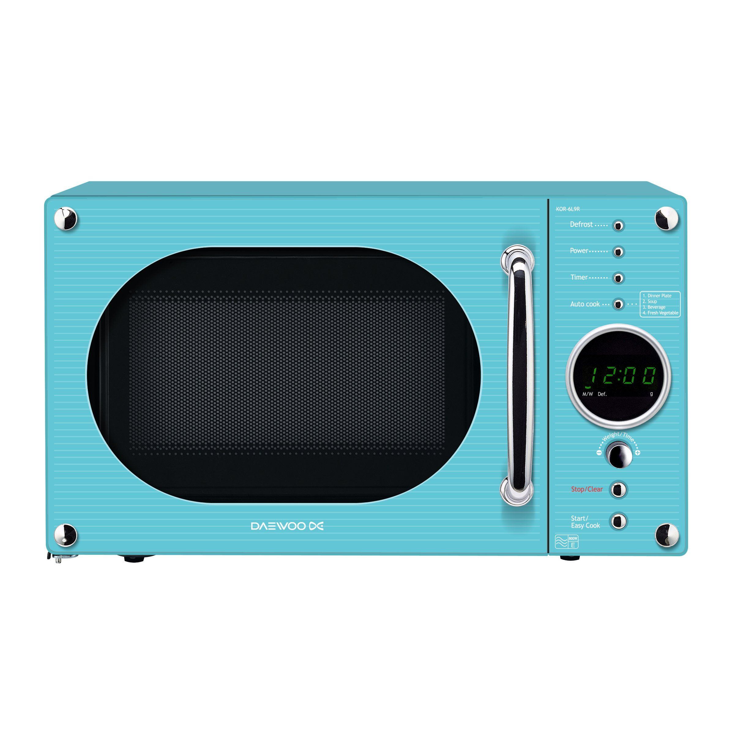 Daewoo KOR6N9RT Microwave Oven, 20 L, 800 W - Turquoise | Home ...