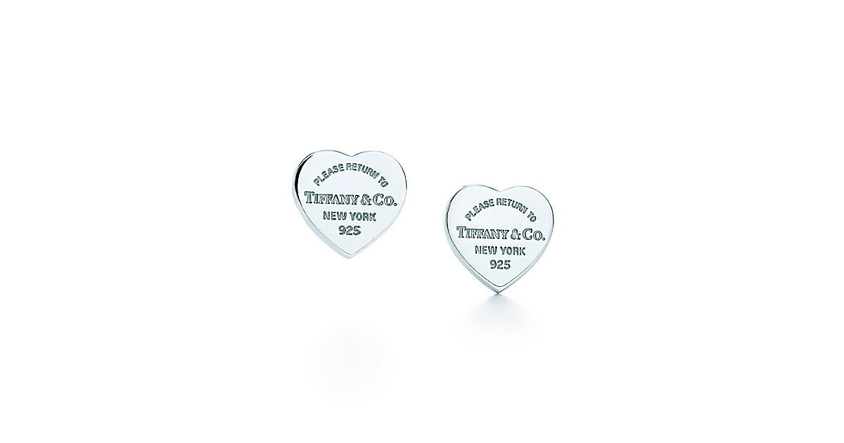 Return To Tiffany Mini Heart Tag Earrings In Sterling Silver