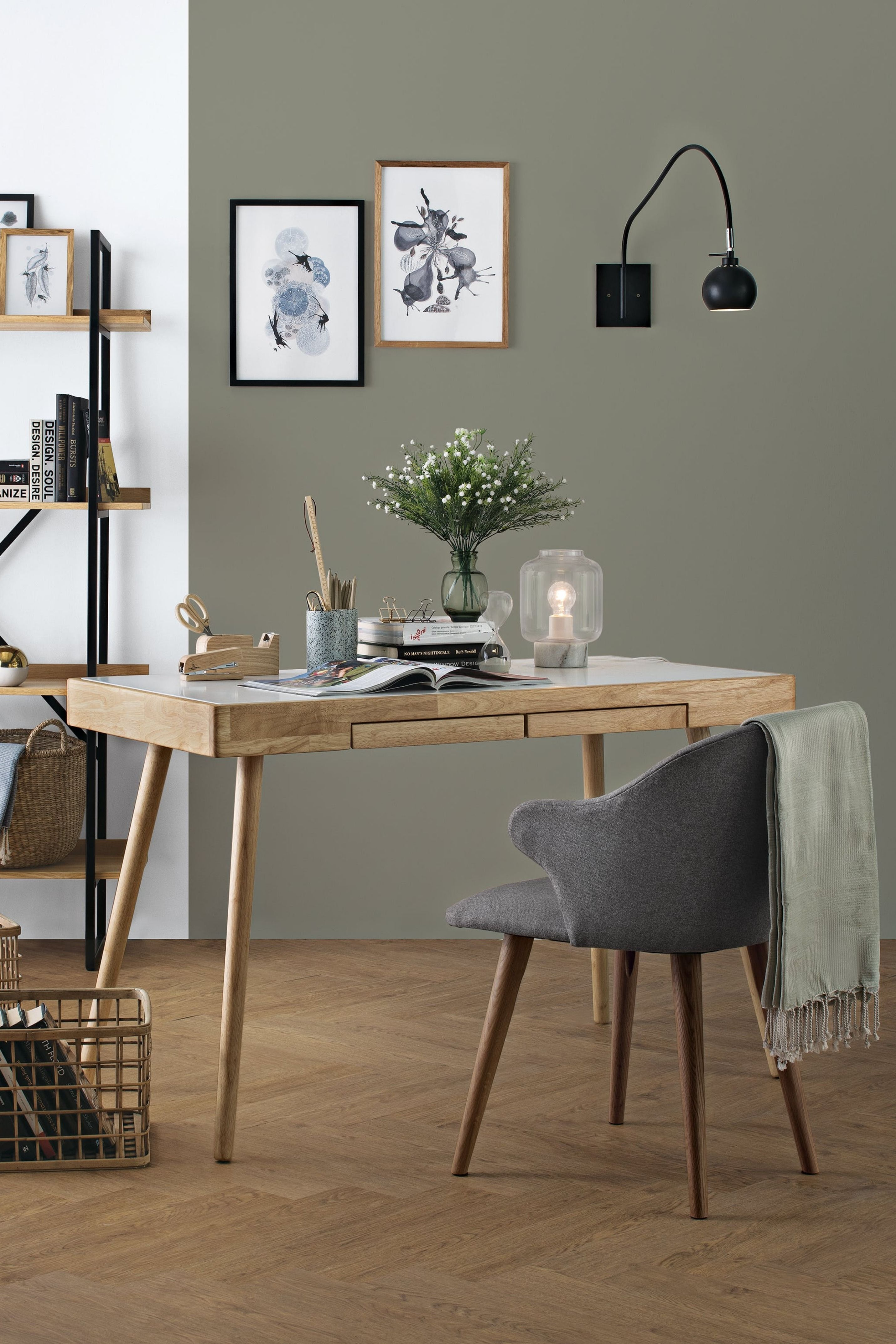 Reth Writing Desk Scandinavian Style Hipvan Home Office Furniture Scandinavian Style Desk Furniture