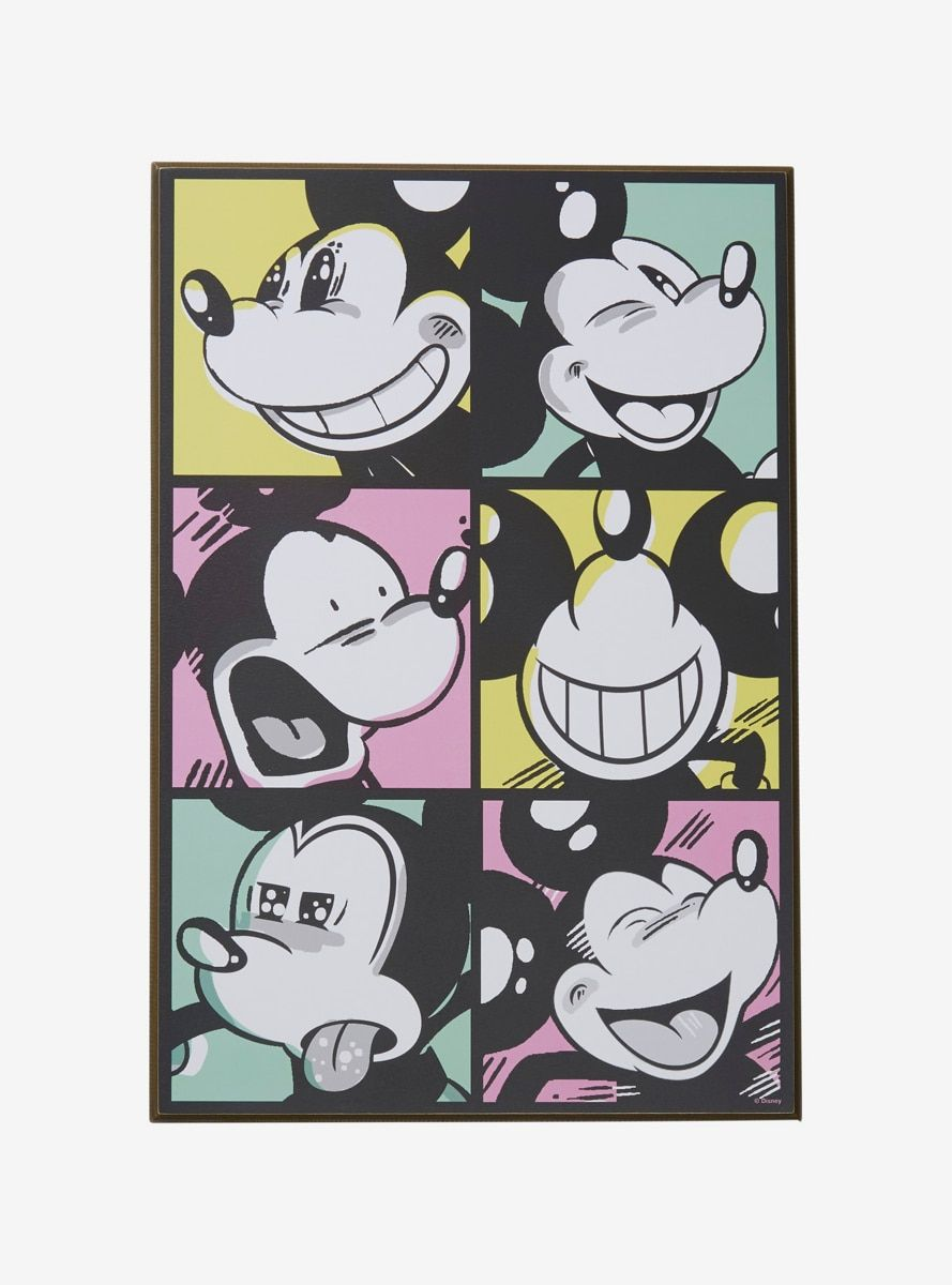 Disney Mickey Mouse Pop Art Expressions Wood Wall Art Mickey Mouse Pop Art Mickey Mouse Drawings Mickey Mouse Wallpaper