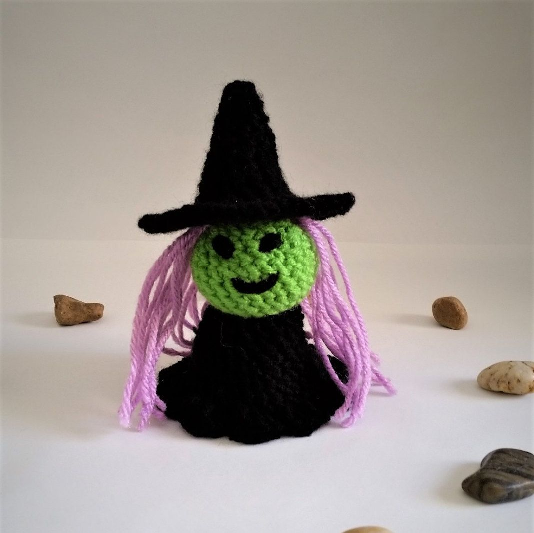 Little Witch Plush by GrinningMystCrochet on Etsy