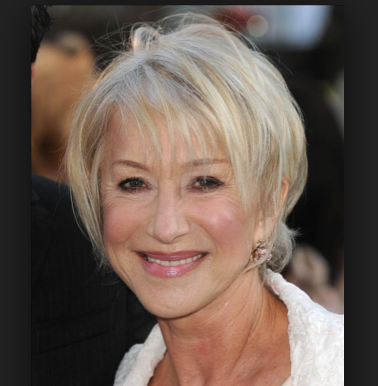 Helen S Haircut Is Beautiful Got To Have The Right Shaped Face For This To Work Helen Mirren Hair Short Hair Styles Short Bob Hairstyles