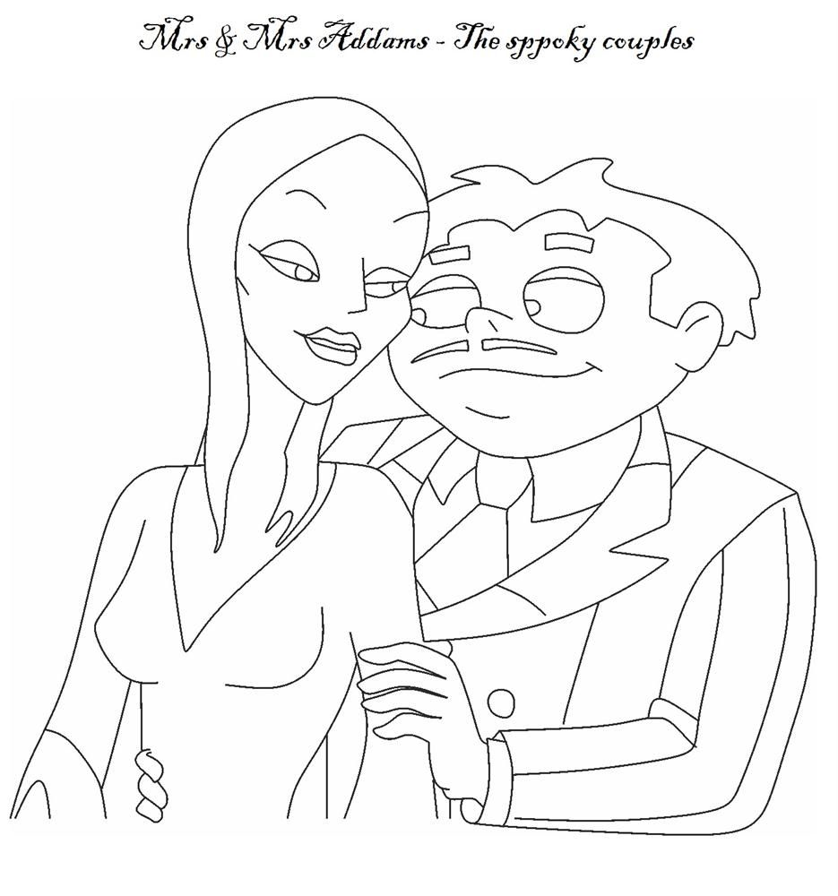 The Addams Family Coloring Page Family Coloring Pages Vintage Coloring Books Family Coloring