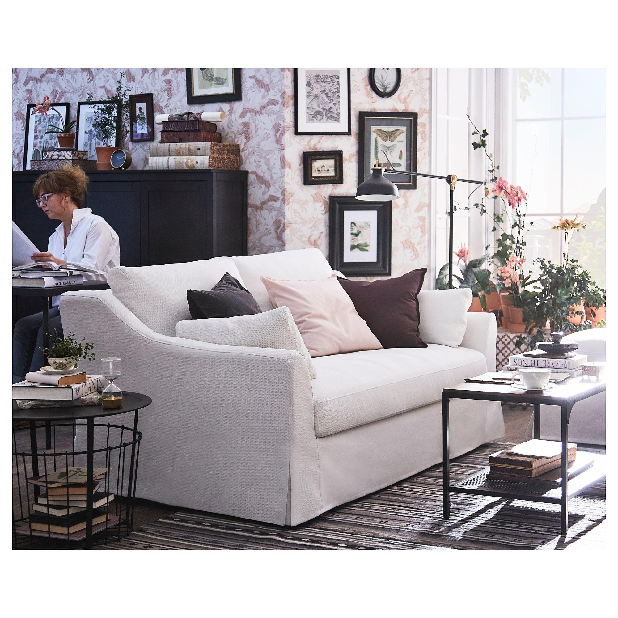 fÄrlÖv loveseat  flodafors white  white sofa living room