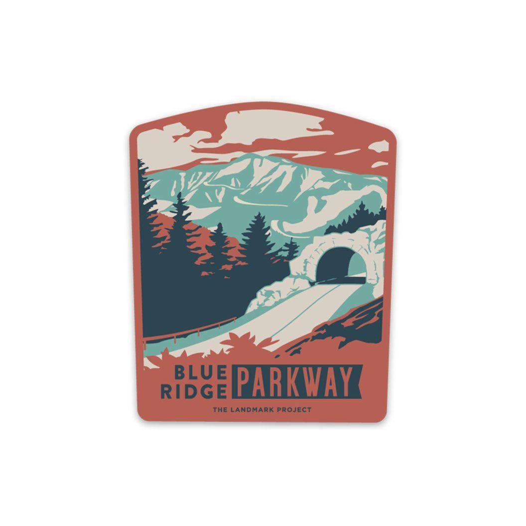 Blue Ridge Parkway Sticker Blue ridge, Blue ridge