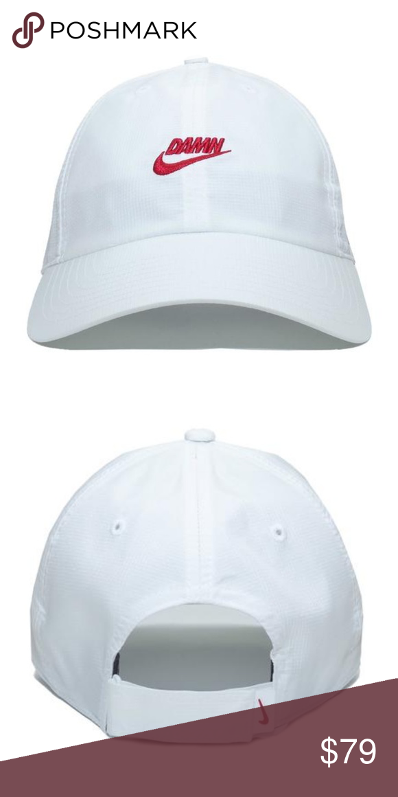 9e6f0150 NWT Kendrick Lamar x Nike DAMN Swoosh Hat White Rare and Brand new with  tags, never worn before Kendrick Lamar x Nike DAMN Swoosh hat in white.