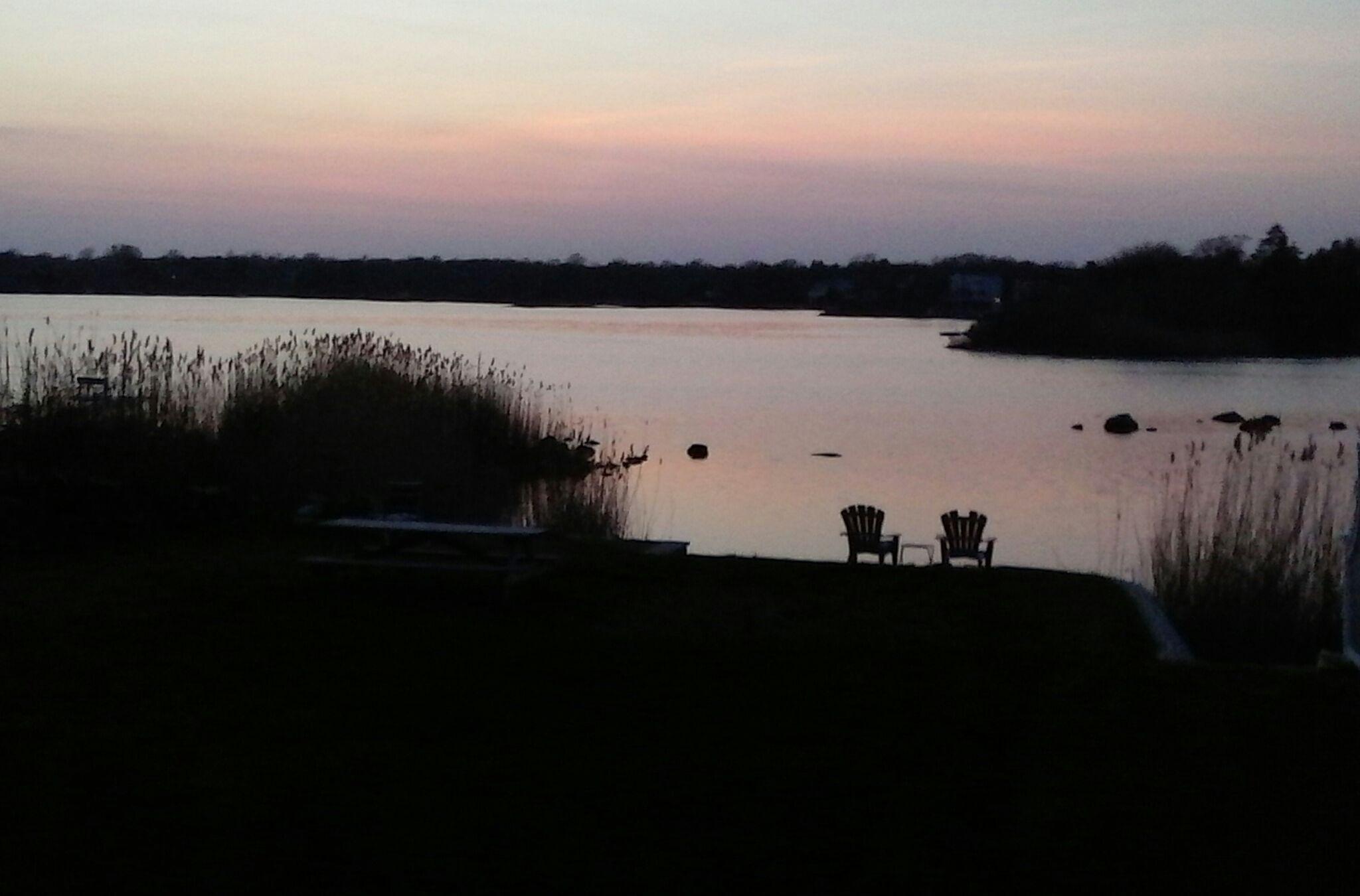 Tranquil night overlooking Green Hill Pond, Charlestown, RI