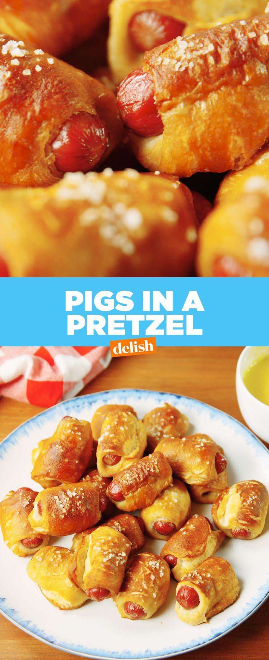 Pigs In A Pretzel Recipe Food, Thanksgiving appetizer
