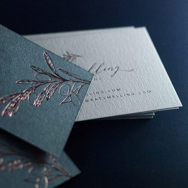 Rose Gold Foil Business Cards Designed By Beck Lord Design