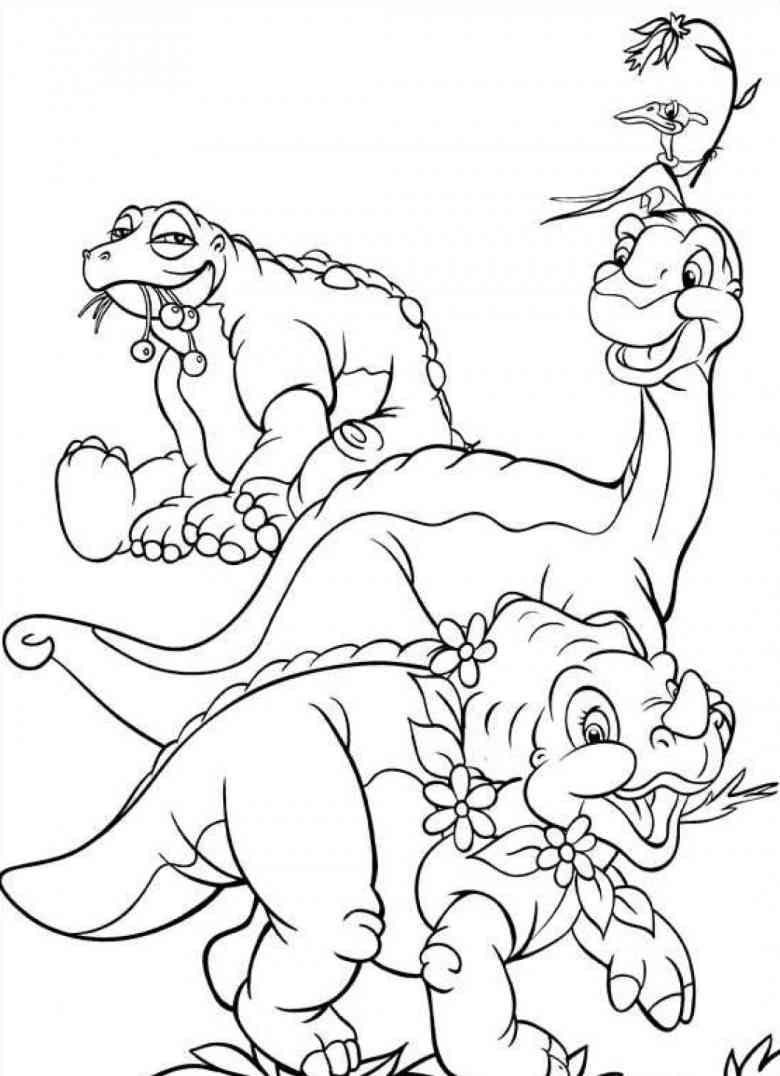Dinosaur mandala coloring pages - Best Friends From Land Before Time Coloring Pages For Kids Printable Free Land Before Time